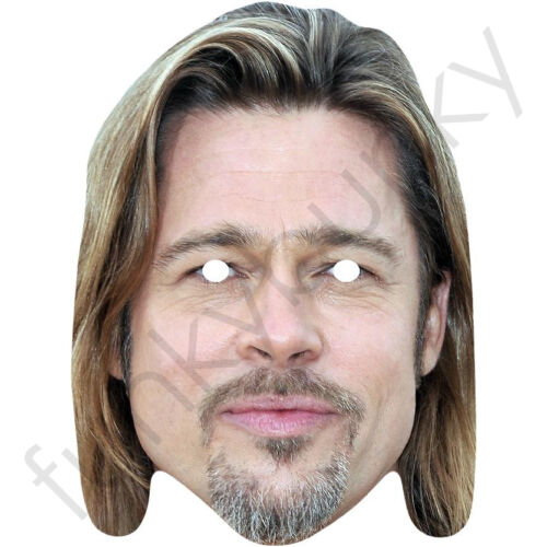 Brad Pitt American Actor Celebrity Card Mask All Our Masks Are Pre-Cut!