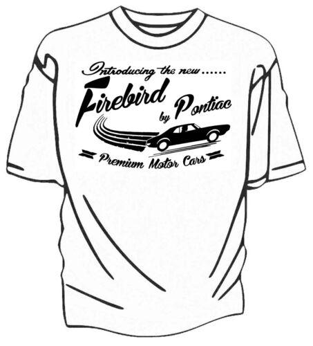 """/""""Présentation de la nouvelle/"""" Firebird par PONTIAC Rétro T-shirt."""
