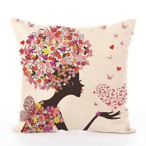 Image Is Loading Sofa Pillow Case Bedroom 45cm 45cm Linen Cushion