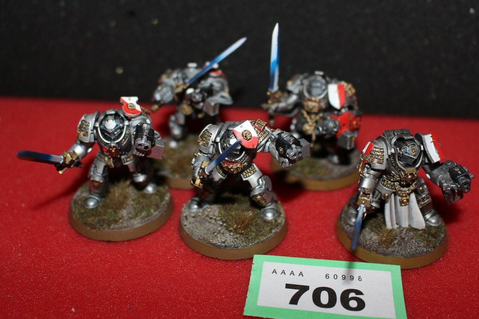 Games Workshop Warhammer 40k gris Knights Terminators Squad Paladins Pro Painted