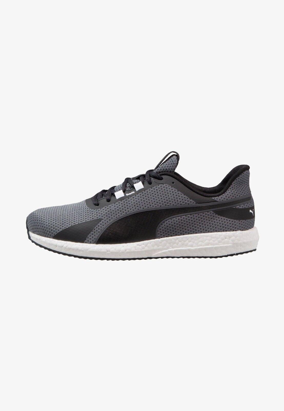 PUMA MEGA NRGY TURBO Taille 13 noir NEUTRAL fonctionnement chaussures 100% GENUINE BARGAIN