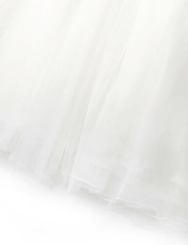 White Flower Girl Dress Kids Rose Bow Party Wedding Formal Pageant Communion