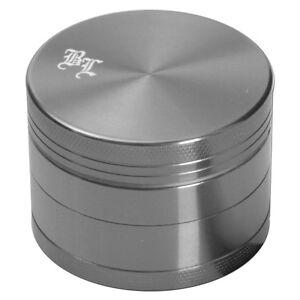 BLACK-LEAF-Alu-Grinder-4-teilig-50mm-Sieb-Aluminium-Muehle-4tlg-Gewuerzmuehle-GRAU