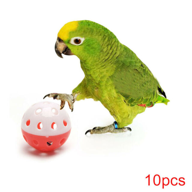 10pcs Bell Ball Pet Hollow Bird Toy Parakeet Parrot Chew Cage Toys o