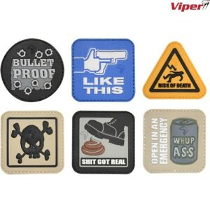 VIPER TACTICAL MORALE PATCH HOOK /& LOOP PVC BADGE FUNNY UK ARMY PAINTBALLING
