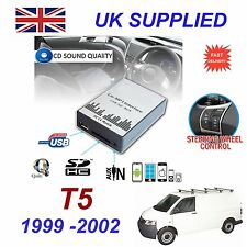 VW T5 98-01 MP3 SD USB CD AUX Input Audio Adapter Digital CD Changer Module