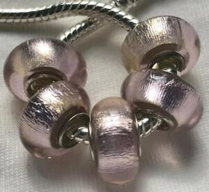 5PCS-silver-hallmarked-Single-Core-Murano-Glass-Beads-fit-Charms-Bracelet-V80