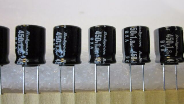 Rubycon 1.8uf 450V BXA T0819 105C Electrolytic Capacitor **NEW** 20/PKG