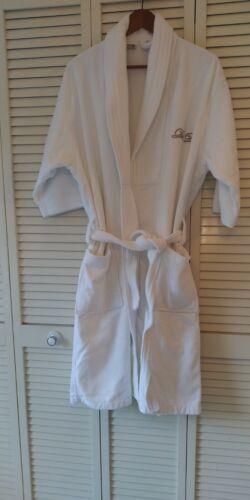 """Terry Cloth Belted Bath Robe 100% Cotton """"De-De"""" M"""