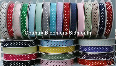 Grosgrain Ribbon With Polka Dots ~ Assorted Colours ~ 9mm & 16mm