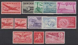 FRANCOBOLLI-1946-49-USA-STATI-UNITI-POSTA-AEREA-MNH-Z-6268