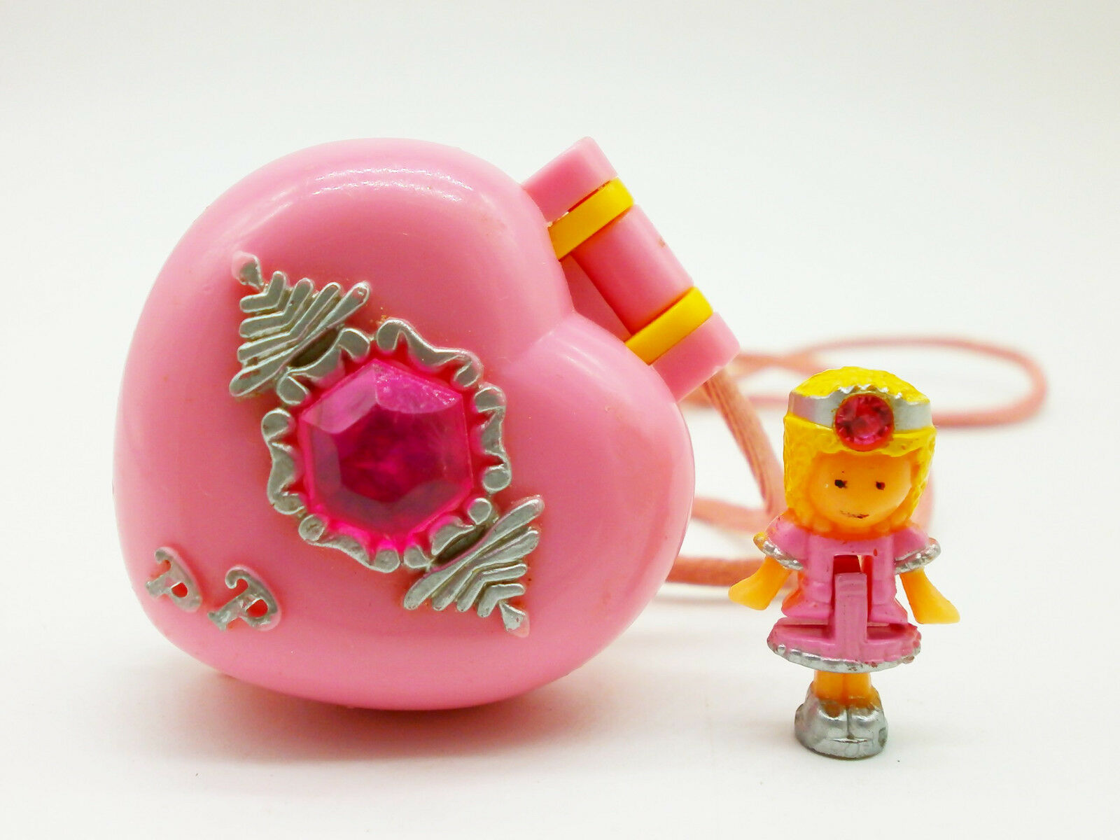 Polly Pocket Mini  Pretty Present  Locket Kettchen 1992   100 % Complete