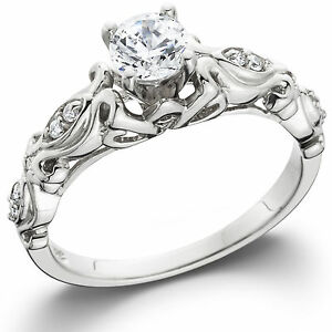 1-2ct-Vintage-Diamond-Solitaire-Engagement-Ring-14K-White-Gold