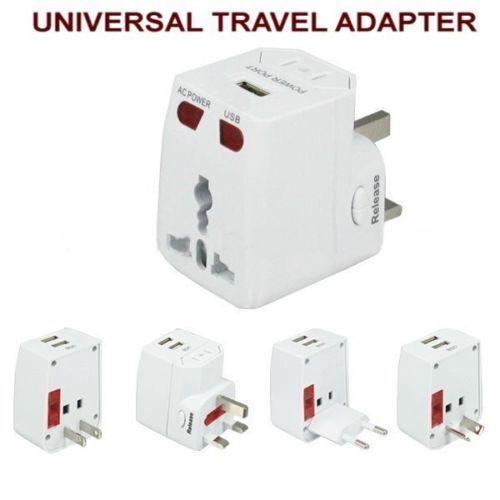 Neuf Universel Voyage Adaptateur Chargeur Avec USB USB USB Pour UK EU US AU JP CN c4dfac