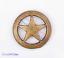 "1/"" Brass Cowboy Texas Star Leathercraft Hatband Stud Rivet Button Screwback 10pc"