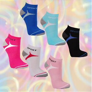 3-6-12-Paar-Hochwertige-Damen-Sneaker-Socken-Sport-Pink-Freizeit-Frotteesohle