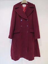 NWT Ladies Jacques Vert Womans Fit & Flare Burgundy Coat, UK10