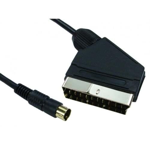 1,5 M Scart zu Svhs S-VIDEO 4 Pin Stecker Kabel Gold Steckverbinder