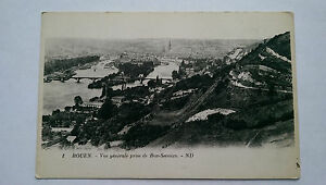 Vintage-Rouen-France-B-amp-W-c1920s-Postcard-General-view