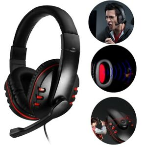 3.5mm Gaming Headset Stereo Surround Headphone Wired w/Mic For PS4 Xbox ONE CA E