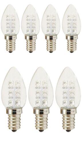 7-Bulbs A-C7E12LCW C7 LED Night Light bulb 120V E12  0.5Watt Cool White Anyray
