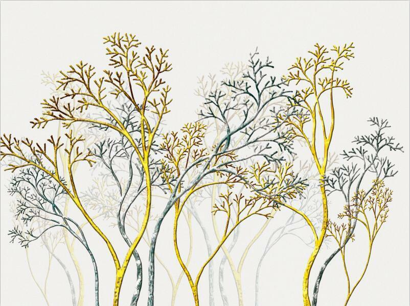 3D Art tree texture pattern Wall Paper Print Decal Wall Deco Indoor wall Mural
