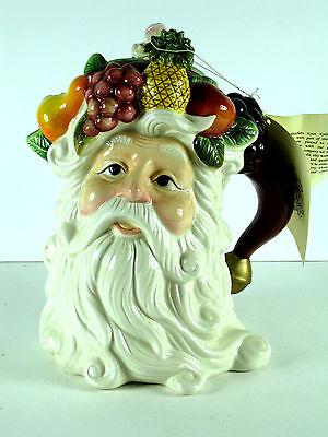 Kaldun & Bogle Teapot Tea Pot Coffee Pot Santa Claus Harvest Fruit NOS Vintage