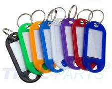 100 Stück Schlüsselschilder 8 Farben Schlüsselanhänger zum Beschriften Bunt
