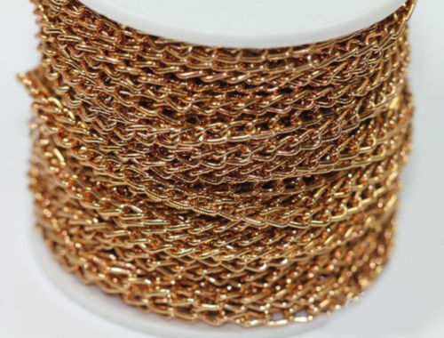1//5//10m Aluminum Cable Open Link Chain For Necklace Bracelet Jewelry Making