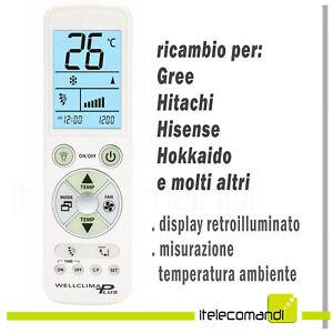 Details about Remote Control Air Conditioner Gree Hitachi Hisense Hokkaido