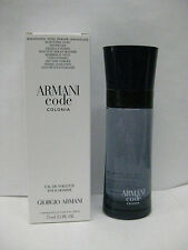ARMANI CODE COLONIA POUR HOMME GIORGIO ARMANI 2.5 oz 75 ml EDT SPRAY MEN NEW TST