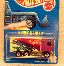 #238 HIWAY HAULER DELIVERY TRUCK PURPLE BLUE CARD RARE HOT WHEELS
