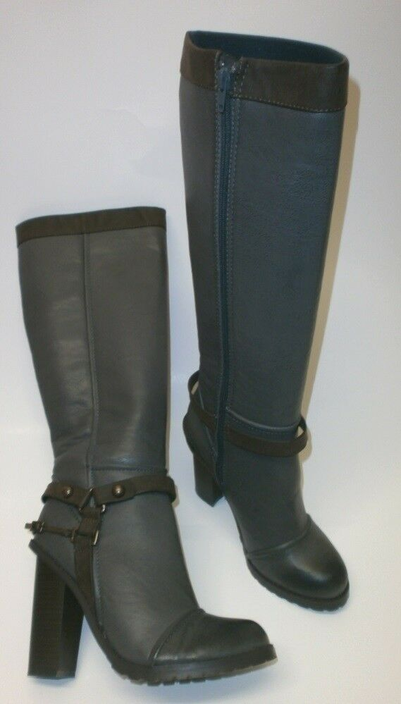C Label Candi-1 Ladies High Boots Knee High Zip up Boots Grey 37-38 New