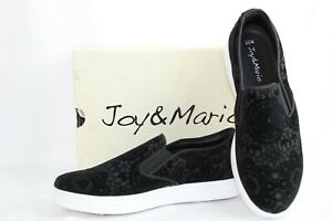 Women-039-s-Humbolt-Fashion-Sneakers-Shoes-Slip-On-Size-7-5-Black-Joy-and-Mario