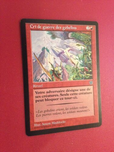 FRENCH CRI DE GUERRE DES GOBELINS MTG MAGIC PORTAL 2 GOBLIN WAR CRY