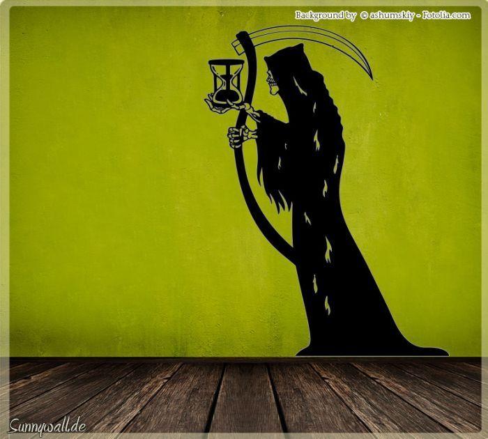 Wandtattoo Halloween Der Tod Deathman Sensenmann 518