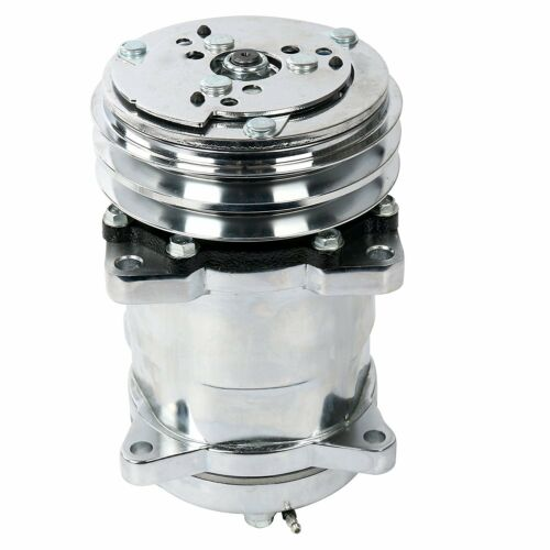 A//C Air Conditioning Compressor 12V//V-Belt Pulley Sanden 508 Style Chrome