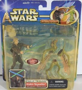 New-Open-Star-Wars-AOTC-Anakin-Skywalker-with-Lightsaber-Slashing-Action-2002-w