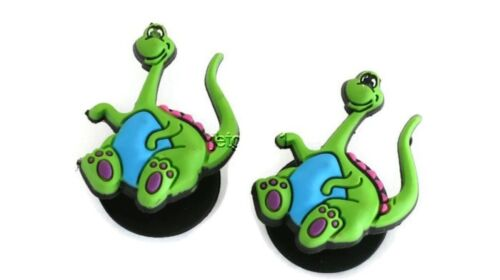 Blue Dinosaurs Authentic Jibbitz Crocs Shoe Bracelet Wristband Charm Set of 2