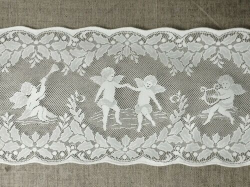 "White Quaker Lace Table Runner 16/"" X 54/"" Valentine Wedding Christmas"