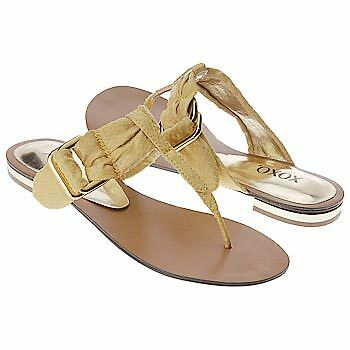 60 XOXO Negril Flat Thong Sandals  NEW Yellow 6