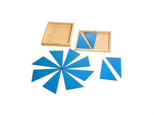 New Montessori Constructive Blue Triangles