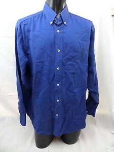 d35eb8204b133 Mens Dress Shirt SIZE 44 Large Made in Italy Erve Jacques Blue Long ...