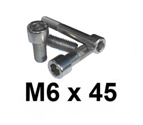 M6 x 45 Stainless Allen Bolt Cap Screw 6mm x 45mm Stainless Socket Cap x10