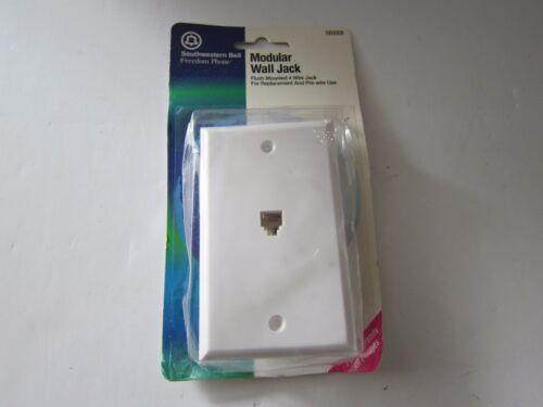 SOUTHWESTERN BELL S60008 4-Conductor Flush-Mounted Modular Wall Jack New