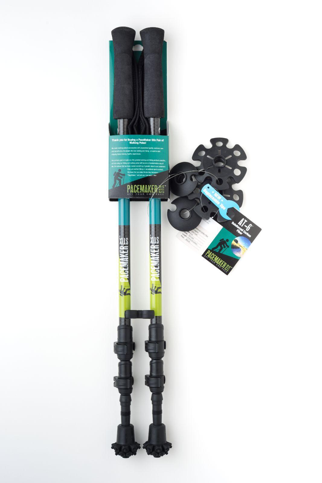 PaceMaker Stix Carbon Fiber AT-6  Ultra-Lightweight Trekking Poles  limit buy