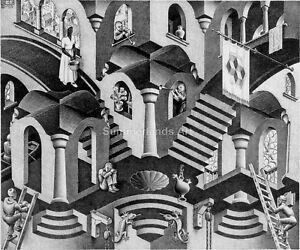 FINE ART PRINT Escher Art Large 55 cm x 60 cm MC Escher /'Snakes/'