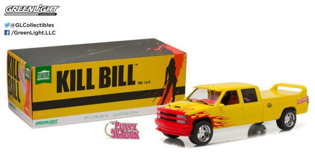 Kill Bill Pussy Wagon Chevrolet C-2500 Crew Cab Silverado Greenlight 19015 1/18