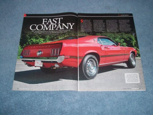 "1969 Mustang SportsRoof Mach 1 Article ""Fast Company"" Auto Show Fastback"