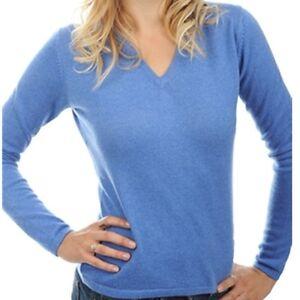 a Balldiri 100 cashmere veli blu maglione a screziato 2 scollo donna V 8OR6wAq